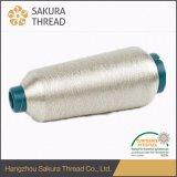 Zuiver Zilveren MetaalGaren met het Rayon van de Polyester of van de Viscose