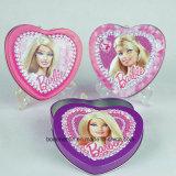 Коробка олова изготовленный на заказ малой конфеты формы сердца Mint упаковывая