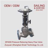 """pressão líquida do vapor do gás de água 2 """" Sp4000 que reduz a válvula de controle"""