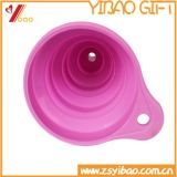 100% de embudo de la categoría alimenticia de cocina de silicona plegable Mini silicona Embudo
