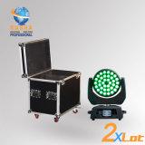 Luz principal móvil caliente de la colada de la venta 36PCS*10W 4in1 RGBW/RGBA LED con el zoom con el caso del vuelo 2in1