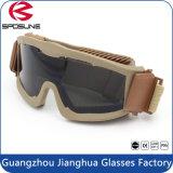 Táctico gafas de protección a prueba de polvo militar anti-niebla