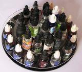 Présentoir acrylique rond d'E-Cigarette