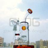Tubo di acqua di vetro della caffettiera a filtro di vetro del getto di Gldg