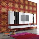 Het goedkope Wasbare Behang van pvc van de Muur van de Kunst KTV van de Prijs 3D Binnenlandse Decoratieve
