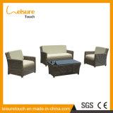 Софы комбинации мебели сада ротанга верхнего качества комплект кофеего синтетической напольной установленный