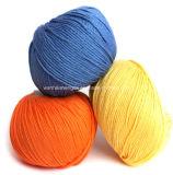 Filato mescolato cachemire del cotone per il lavoro a maglia e tessere