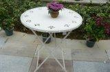 Tabela Foldable ao ar livre & cadeira do metal encantador do projeto de Rosa