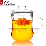 350mlセットされる普及したガラスティーカップかセットされるハンドメイドの抵抗力があるホウケイ酸塩ガラスのティーカップまたは熱販売の単一の壁のガラスコップセット