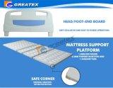 3 Set-manuelles reizbares Krankenhaus-Bett mit rostfreies Handbuch-gesetztem Griff