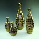 De gouden Aantrekkelijke Ceramische Vaas van het Ontwerp voor Luxe Docration