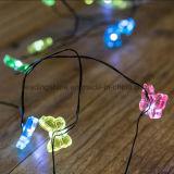 屋内妖精ストリングはクリスマスのための電池式の銅線のマイクロ蝶LEDライトをつける