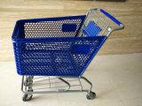 Carretilla plástica de las compras con