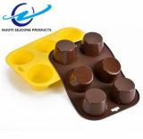 Mini carter de pain 6 cuvettes de moulage de silicones pour des gâteaux et le traitement au four