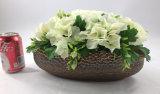 La cesta de la flor artificial planta la decoración del jardín