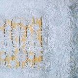 Cordón lleno de la tela de la nueva del diseño de la fábrica de las existencias de la venta al por mayor el 1.3m de la anchura del bordado de la fibra del cordón del poliester del bordado suposición química micro del recorte para la ropa accesoria