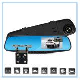 Gravador de vídeo duplo da lente de 4.3 polegadas com FHD 1080P