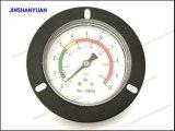 Schwarzer allgemeiner Gpg-012 Stahldruckanzeiger/vorderes Flansch-Luft-Manometer