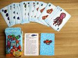 Карточная игра идет карточки рыб играя для Америка