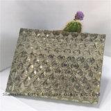 glace de verre feuilleté de flotteur de 10mm+Silk+5mm/art/verres de sûreté en verre Tempered/pour la décoration
