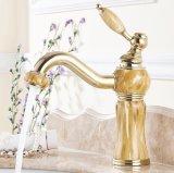 Torneira montada do Faucet da bacia da pintura do jade do banheiro de Flg plataforma de bronze