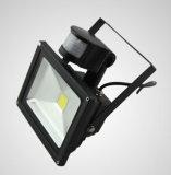 中国製PIRの動きセンサーのフラッドライトが付いているIP65 30W LEDの洪水ライト