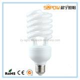 Meia lâmpada energy-saving leve da espiral 30W T4 CFL
