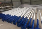 Reines weißes Solarstraßenlaternemit Stahlpolen