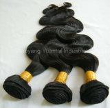 加工されていない中国かインドまたはマレーシアの人間のバージンの毛のよこ糸(編む束)の拡張