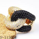 CZが付いている新しいデザイン方法宝石類の本物の銀製のリング