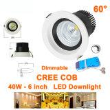 Lampes décoratives enfoncées d'intérieur de Downlights de CREE de Dimmable 40W de plafond économiseur d'énergie vert de l'ÉPI DEL