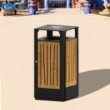 Напольная деревянная мусорная корзина отброса с Ashtray