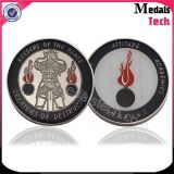 Die Casting Metal Medal Soft Enamel Antique Nickle Coins with Holder