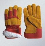Перчатка Cowhide кожаный защитная с польностью акриловой кучей Lining-3082