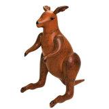 جيّدة [بفك] أو [تبو] حيوانيّ قابل للنفخ كنغر عرض في الحديقة