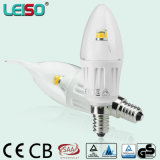 330程度4Wのクリー族チップScob LEDの蝋燭ランプ(LS-B304-CWWD/CWD)
