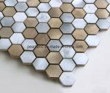 Aluminiummosaik-Fliesen SteinMatel deckt Dekoration-Küche Backsplash Badezimmer-Wand-Fliesen mit Ziegeln
