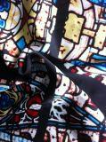 아름다운 폴리에스테 공단 목 스카프를 위한 시퐁 목 스카프 직물