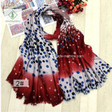 2017 New Velvet Transitional Color Fashion Lady Scarf com DOT Impresso