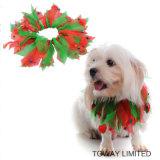 Accessori dell'animale domestico della sciarpa dei capelli di festa dei prodotti del cane di Holloween di natale