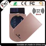 Raccoglitori sottili sottili delle donne del supporto di scheda di RFID della carta di credito di caso di plastica della protezione