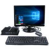 La base industrial I7-5550 de los ordenadores de la mini PC de Fanless se dobla los NIC con el RAM 4G y SSD 128g