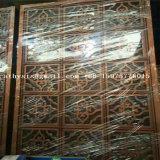 Panneau d'acier inoxydable de cloison de séparation de modèle intérieur dans le fini en bronze en vente