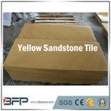 Azulejos naturales de la piedra arenisca del color amarillo popular para la pared y el suelo del hotel