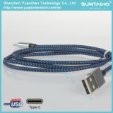 Tipo trenzado de nylon cable de C para el mac