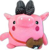 분홍색 돼지 인형 견면 벨벳에 의하여 채워지는 장난감