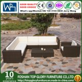 Patio-Möbel PET Rattan-Kombination Drak Brown Sofa-Sets (TG-JW16)