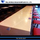Moderner Entwurfs-weißer Handelsspeisetisch, Kaffeetisch, Gaststätte-Tisch