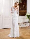 Vestito nuziale semplice dall'abito di cerimonia nuziale dell'innamorato del raso di bellezza