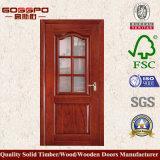 Porte simple en bois en verre de salle de bains (GSP3-004)